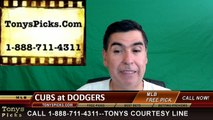 LA Dodgers vs. Chicago Cubs Free Pick Prediction MLB Baseball Odds Series Preview