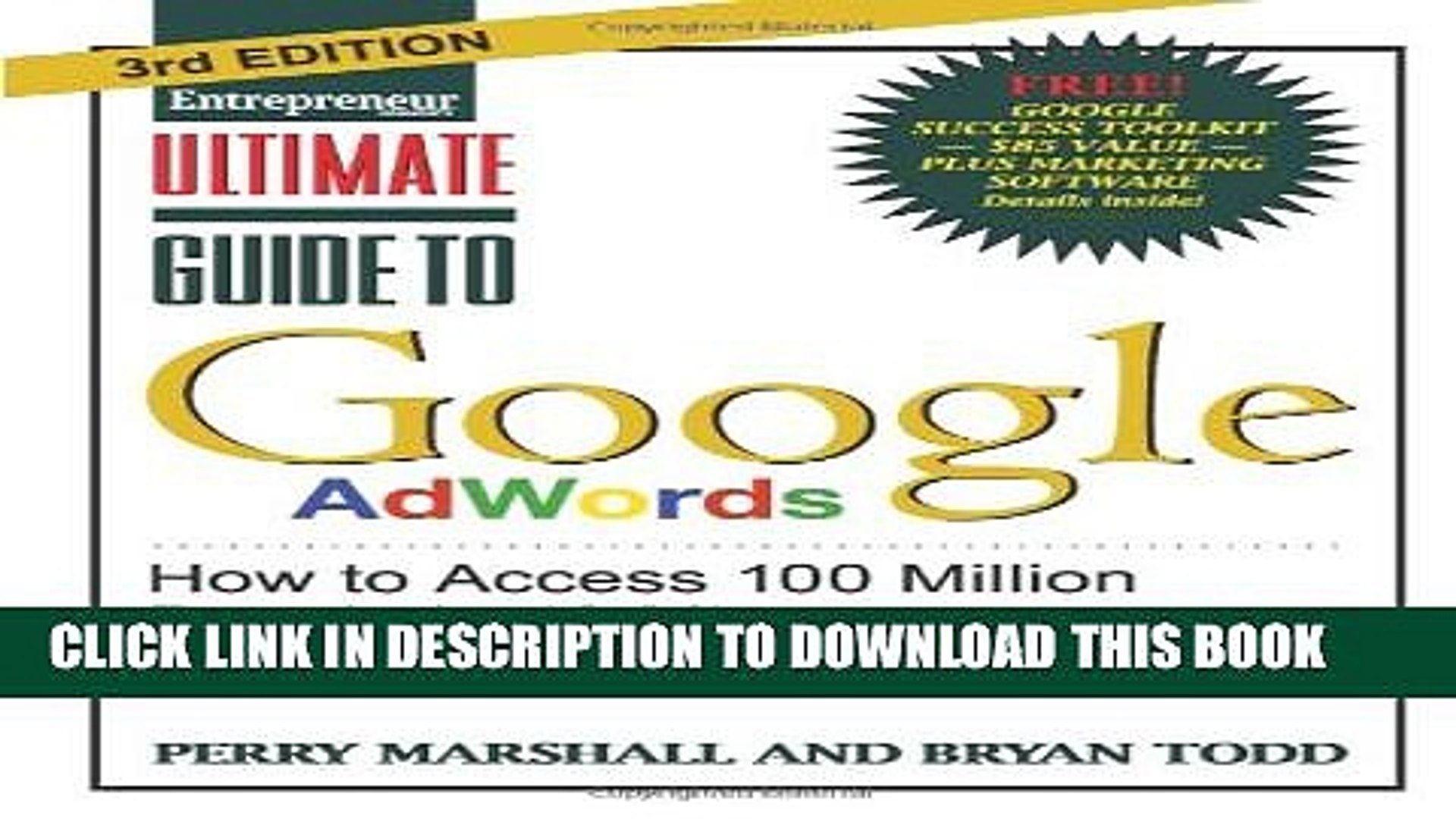 New Book Ultimate Guide to Google AdWords: How to Access 100 Million People in 10 Minutes