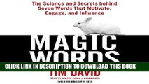 Collection Book Magic Words: The Science and Secrets behind Seven Words That Motivate, Engage, and