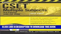 Multiple Subjects with CD-ROM 3rd Edition CliffsNotes CSET