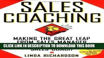 Collection Book Sales Coaching: Making the Great Leap from Sales Manager to Sales Coach