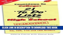 New Book Countdown to College: 21 To Do Lists for High School: Step-By-Step Strategies for 9th,