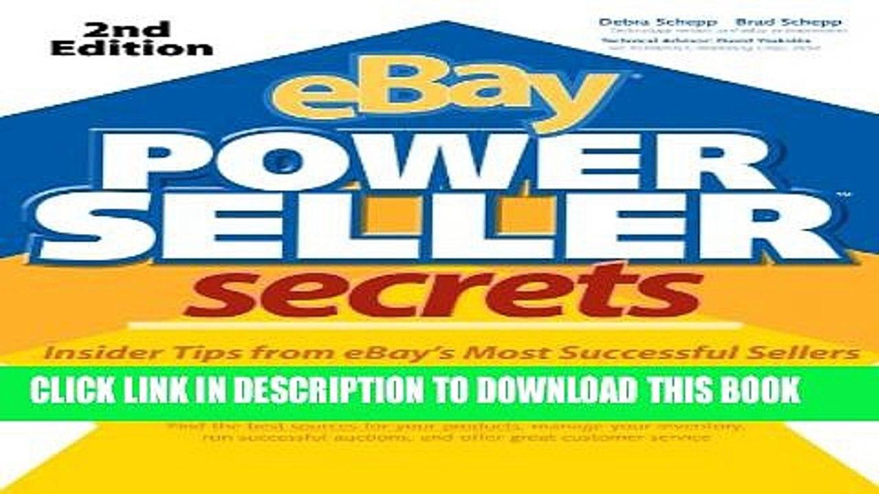 Collection Book Ebay Powerseller Secrets 2e V 2 E Video Dailymotion