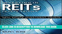 New Book Investing in REITs: Real Estate Investment Trusts (Bloomberg)