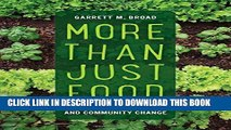 Collection Book More Than Just Food: Food Justice and Community Change