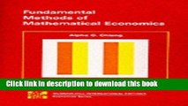 Read Fundamental Methods of Mathematical Economics: Instructor s Manual  PDF Free