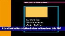 [Read] Little Stones at My Window: Piedritas En La Ventana, Poems  (English and Spanish Edition)