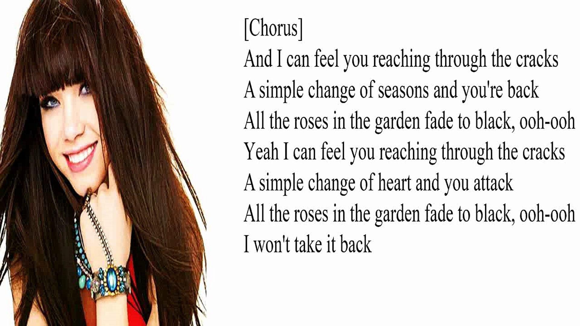 Carly Rae Jepsen Roses Lyrics Vidéo Dailymotion