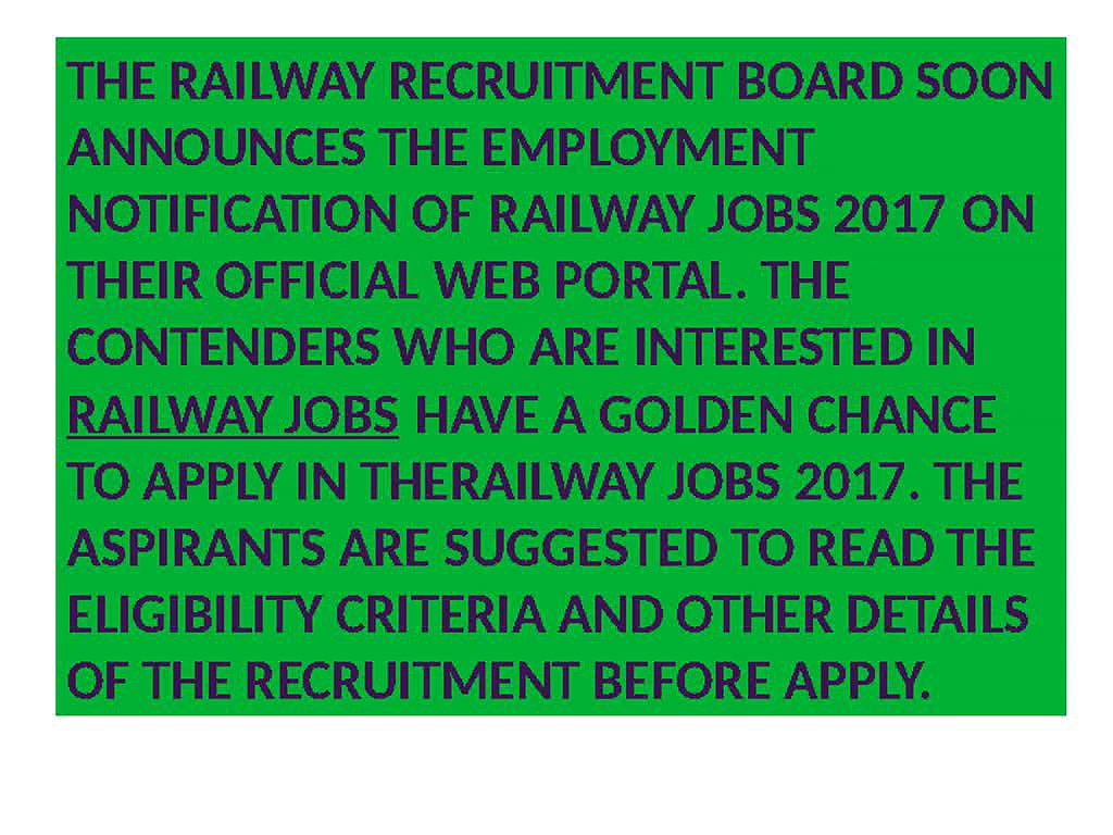 RRB Recruitment, Railway Jobs, latest Railway Vacancy eligibility, Upcoming Jobs In Railway,
