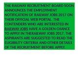 RRB Recruitment, Railway Jobs, latest Railway Vacancy eligibility, Upcoming Jobs In Railway,