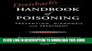 [PDF] Dreisbach s Handbook of Poisoning: Prevention, Diagnosis and Treatment, Thirteenth Edition