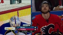 Jake Allen robs TJ Brodie Feb 15 2013 St. Louis Blues vs Calgary Flames NHL Hockey.