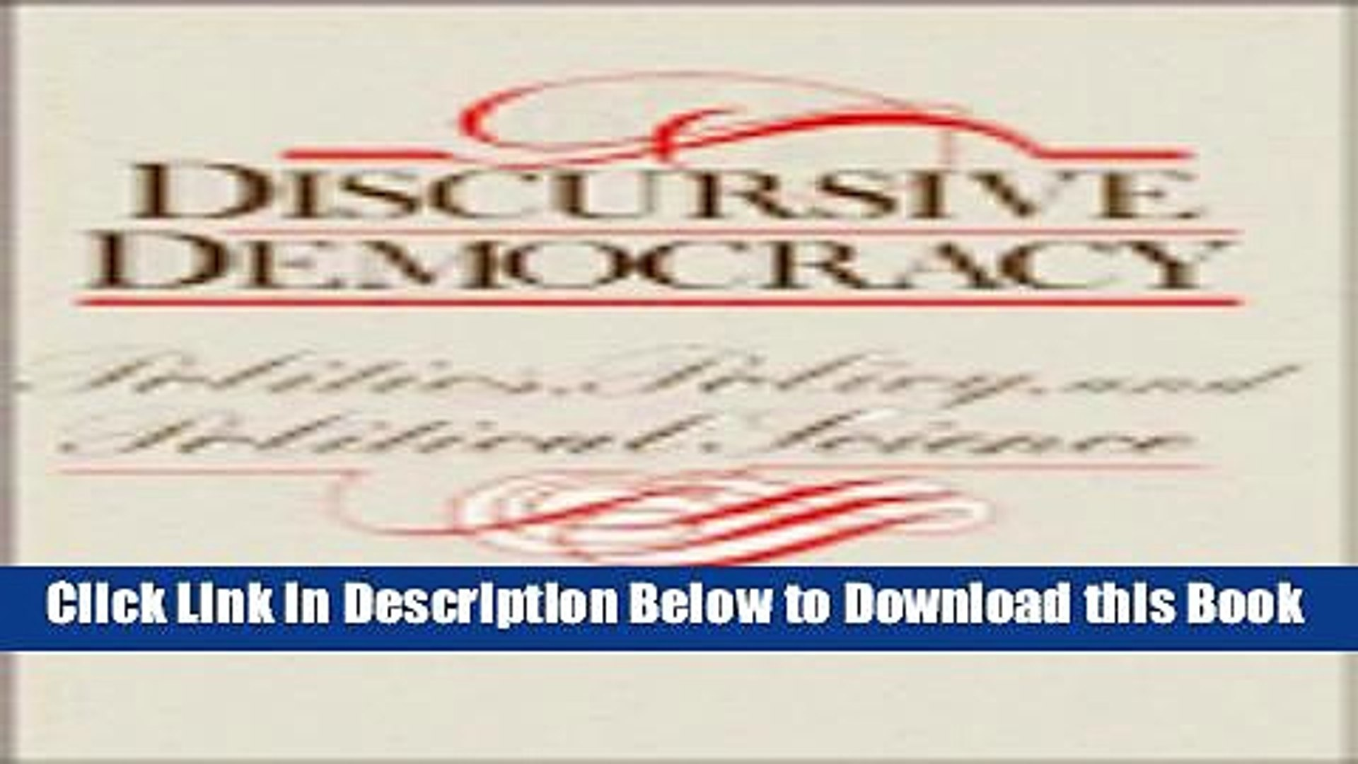 [Reads] Discursive Democracy: Politics, Policy, and Political Science Online Ebook