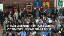 L'Italie rend hommage aux victimes du séisme