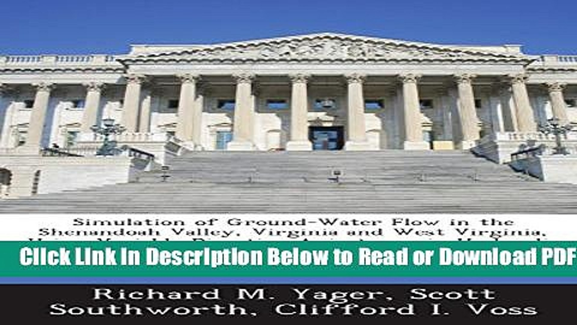 [Download] Simulation of Ground-Water Flow in the Shenandoah Valley, Virginia and West Virginia,