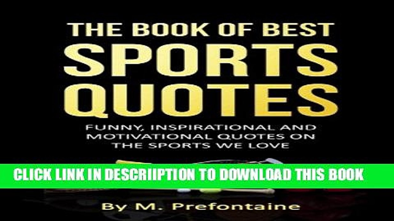 PDF] The Book Of Best Sports Quotes: Funny, inspirational ...