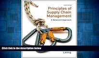 Must Have  Principles of Supply Chain Management: A Balanced Approach (with Premium Web Site