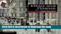 PDF Ethics and Finance: An Introduction (Cambridge Applied Ethics)  Ebook Free