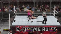 WWE 2K16 Bret Hart vs Sting vs Stone Cold Steve Austin triple Threat Hell in a Cell Match