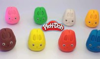 Play Creative and Learn Colors with Play Dough Rabbit Molds Fun Animal and Creative for Kids