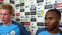 Manchester City 3-1 West Ham United Raheem Sterling & Kevin De Bruyne Post Match Interview 28/08/2016 HD