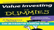 [PDF] Value Investing For Dummies Full Colection