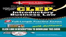 Collection Book CLEP® Introductory Business Law with CD (CLEP Test Preparation)