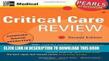 New Book Critical Care Review: Pearls of Wisdom, Second Edition