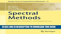 [Download] Spectral Methods: Algorithms, Analysis and Applications (Springer Series in