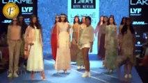 KRITI SHANON ON RAMP FOR DESIGNER RITU KUMAR THE LABEL COLLECTION  LFW DAY 4