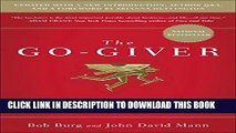 New Book The Go-Giver, Expanded Edition: A Little Story About a Powerful Business Idea