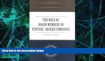 Read Compensation Structures for Venture Backed Companies