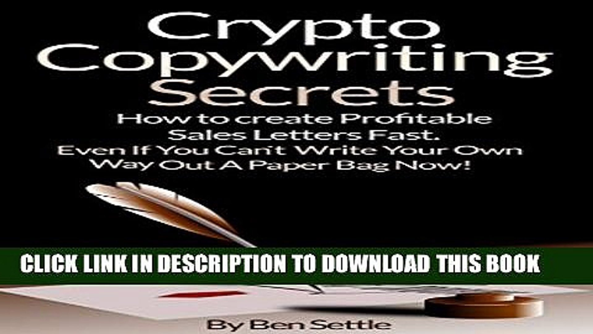 New Book Crypto Copywriting Secrets - How to create profitable sales letters fast - even if you