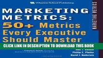 New Book Marketing Metrics: 50+ Metrics Every Executive Should Master
