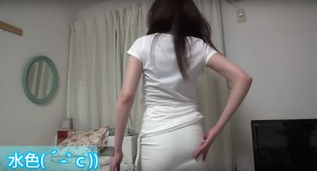 Japanese YouTuber shows how hard it is to hide your panties under sheer clothing