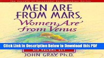 [Read] Men Are from Mars, Women Are from Venus Ebook Free