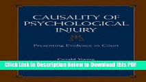 [Read] Causality of Psychological Injury: Presenting Evidence in Court Ebook Free