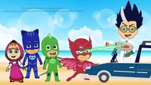 Masha And The Bear cry Romeo took Her to Space PJ Masks Owlette Gekko and Catboy parody