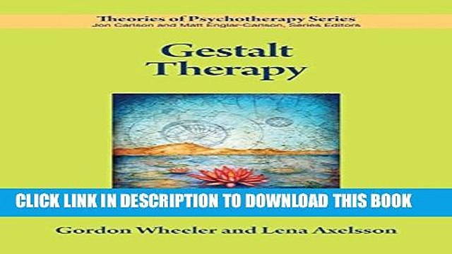 Collection Book Gestalt Therapy (Theories of Psychotherapy)