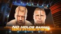 WWE Wrestlemania 29 Triple H Vs Brock Lesnar (Triple H Career On The Line)