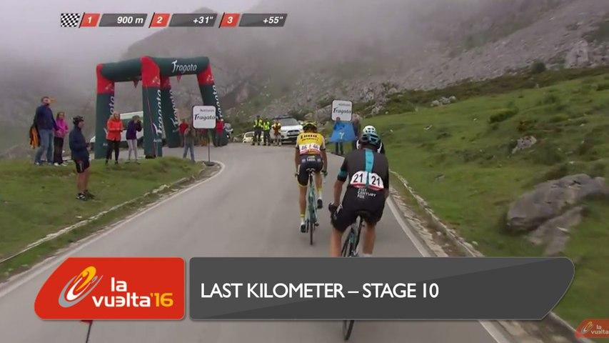Last kilometer / Ultimo kilómetro - Etapa 10 - La Vuelta a España 2016