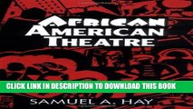 New Book African American Theatre: An Historical and Critical Analysis (Cambridge Studies in