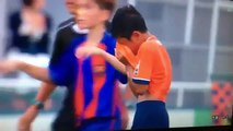 Barcelona youngsters console opponents