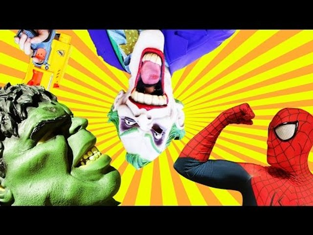 Spiderman Vs Hulk Vs Joker w Spidergirl Frozen Elsa Venom Real Life Superhero Movie Compilation