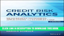 [PDF] Credit Risk Analytics: Measurement Techniques, Applications, and Examples in SAS Full Online
