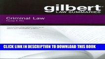 [PDF] Gilbert Law Summaries on Criminal Law Popular Online