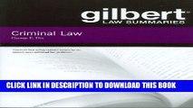 [PDF] Gilbert Law Summaries on Criminal Law Popular Online