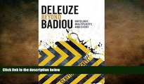 book online Deleuze Beyond Badiou (Insurrections: Critical Studies in Religion, Politics, and