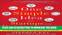 [PDF] One Simple Idea for Startups and Entrepreneurs:  Live Your Dreams and Create Your Own
