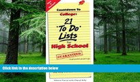 Big Deals  Countdown to College: 21 To Do Lists for High School: Step-By-Step Strategies for 9th,